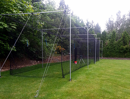 Baseball Batting Cage Private Owner Also Used To Practice Cricket